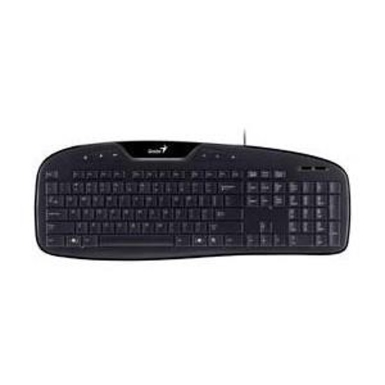 Klawiatura GENIUS KB-M205, PS2, Black, 6 keys, BB