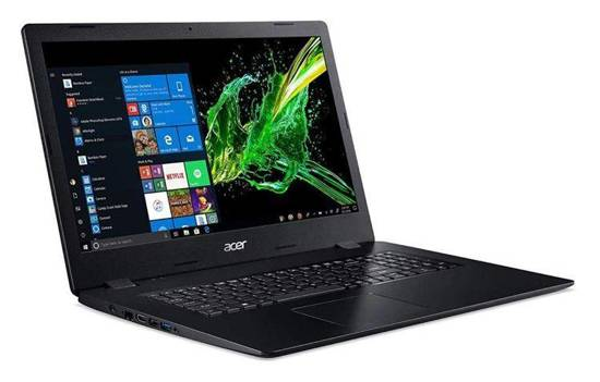 "Notebook Acer Aspire 3 17,3""FHD /i5-1035G1/8GB/SSD512GB/UHD/DVD-RW Black"