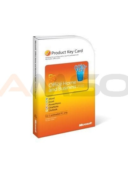 Office 2010 Home and Business GERMAN PC Attach Key PKC