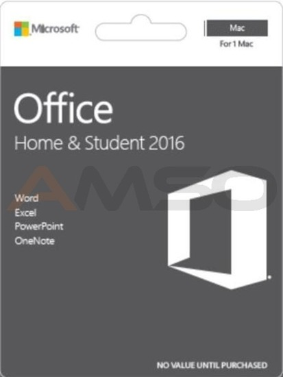 Office Home and Student 2016 Polish Medialess for Mac P2