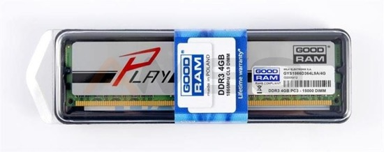Pamięć DDR3 GOODRAM PLAY 4GB/1866MHz PC3-15000 9-11-9-28 SILVER