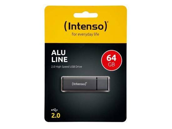 Pendrive INTENSO 64GB ALU LINE ANTHRACITE USB 2.0