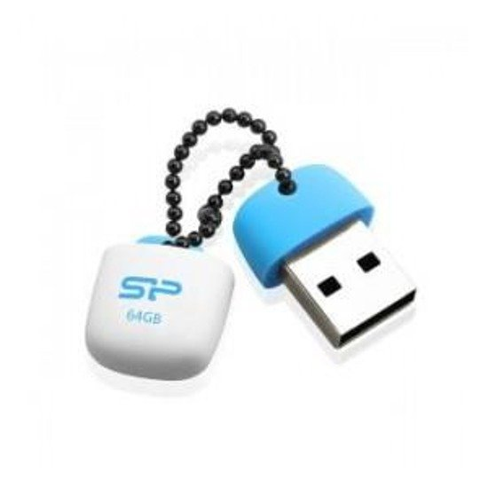 Pendrive Silicon Power 64GB USB 2.0 Touch T07 Baby Blue