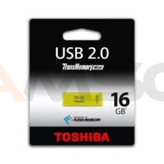 Pendrive TOSHIBA 16GB YELLOWGREEN USB 2.0 – RETAIL