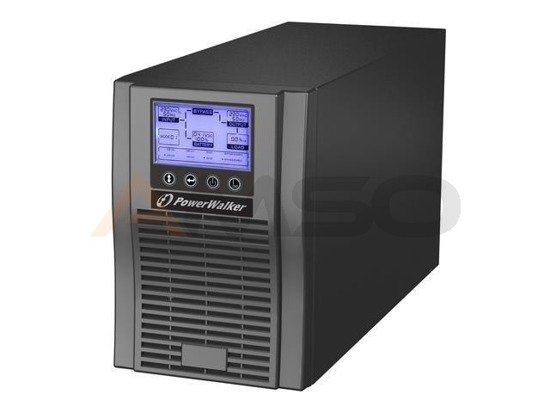 UPS POWER WALKER ON-LINE 1000 VA 3X IEC OUT, USB, EPO, LCD