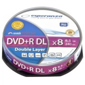 DVD+R Esperanza 8,5GB X8 DL - Cake Box 10 szt.
