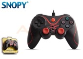 Gamepad kontroler SNOPY SG-301 USB do PC Przewodowy Black/Red