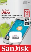 Karta pamięci microSDHC SanDisk ULTRA ANDROID 16 GB  48 MB/s Class 10 UHS-I