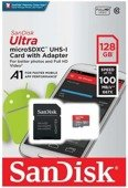 Karta pamięci microSDXC SanDisk ULTRA ANDROID 128GB 100MB/s A1 Class 10 UHS-I + adapter