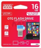 Pendrive GOODRAM DUALDRIVE 64GB USB 3.0 / TYPE C RETAIL 10