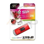 Pendrive Silicon Power 256GB USB 3.1 Gen1 Blaze B50 carbon red