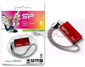 Pendrive Silicon Power Touch 810 8GB USB 2.0 Swarovski Red