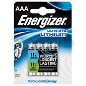 Bateria Energizer Ultimate Lithium Litowa AAA L92 4 szt. blister
