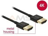 Kabel HDMI Delock HDMI-HDMI High Speed Ethernet 4K 3D 0.25m