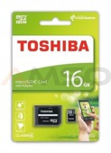 Karta pamięci Toshiba M102 microSDHC 16GB class 4 High Speed + adapter SD
