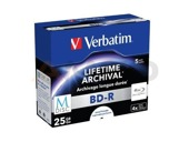 M-DISC BD-R Verbatim 25GB X4 Printable (5 Jewel Case)