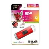 Pendrive Silicon Power 32GB USB 3.1 Gen1 Blaze B50 carbon red